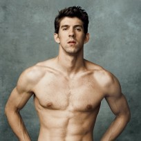 Shirtless Michael Phelps
