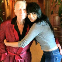 Sherlyn Chopra and Hugh Hefner