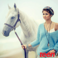 Selena Gomez and a Horse