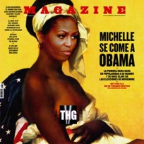 Michelle Obama Topless Slave Cover