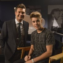 Justin Bieber with Ryan Seacrest