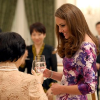 Kate Middleton Drinking Water