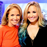 Katie Couric and Demi Lovato