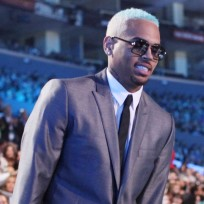 Chris Brown at the MTV VMAs
