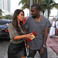 Kim Kardashian and Kanye West in Miami