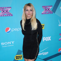 Britney Spears at X Factor Party