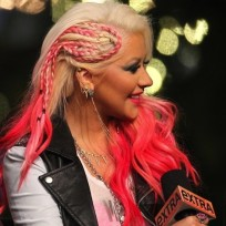What do you think of Christina Aguilera's pink braid?