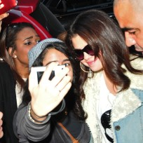 Selena Gomez and a Fan