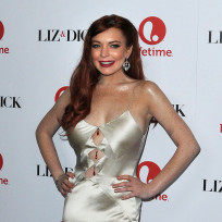 Lindsay Lohan's Liz & Dick premiere look: Hit or miss?