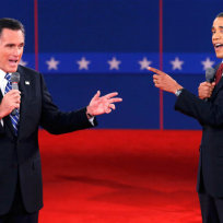 Obama romney debate photo