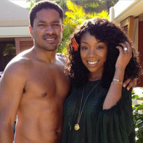 Ryan Press and Brandy Norwood