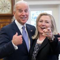 Joe Biden and Hillary Clinton