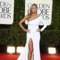 Heidi Klum at the Golden Globes