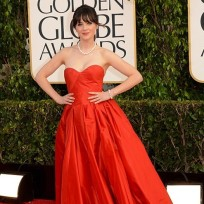 Zooey Deschanel Golden Globes Dress