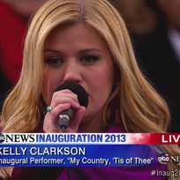 Kelly Clarkson Inauguration Performance