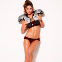 Katherine Webb in Shoulder Pads
