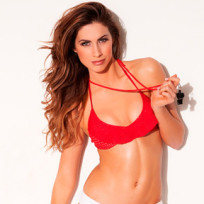 Katherine Webb with a Whistle