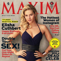 Elisha cuthbert maxim cover