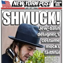 Is John Galliano mocking Jewish people in this outfit?