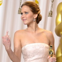 Jennifer Lawrence Middle Finger Photo