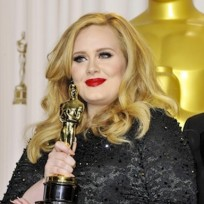 Adele with an Award