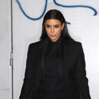 Kim Kardashian Goes Black