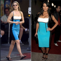 Who wears this dress better: Ali Larter or Kim Kardashian?
