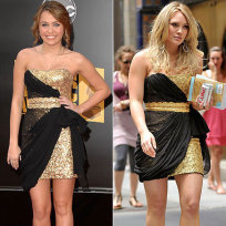 Who looks better in this outfit: Miley Cyrus or Hilary Duff?