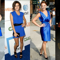 Who looks most beautiful in blue?
