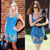 Who wears this outfit better: Paris Hilton or Rachel Bilson?