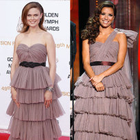Who looks better in this dress: Emily Deschanel or Eva Longoria?