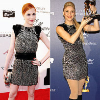 Who looks better in this outfit: Evan Rachel Wood or Shakira?