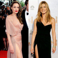 Who wore this dress better, Angelina or Jen?