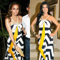 Who wears this dress better: Jennifer Lopez or Kourtney Kardashian?