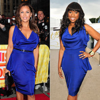 Who wears this blue dress better?