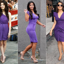 Who looks prettiest in purple?
