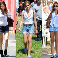 Who wears this outfit best: Rachel, Emma or Miley?