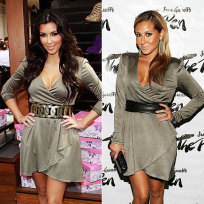 Who looks hotter in this outfit, kim or Adrienne?