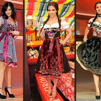 Who looks best in her dirndl?