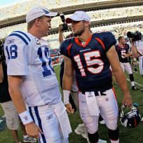 Manning and tebow