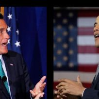 Obama vs romney photo
