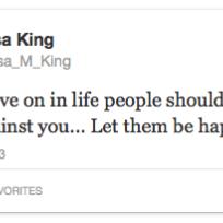 M king tweet