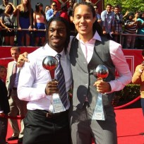 Robert Griffin III and Brittney Griner