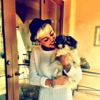 Miley Cyrus and Her Dog