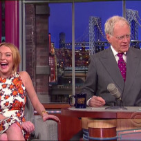 Lohan on Letterman