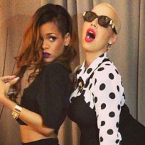 Rihanna and Amber Rose
