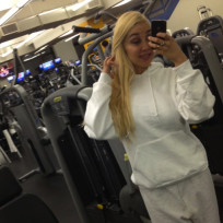 Amanda Bynes at the Gym