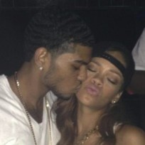 Rihanna Fan Kiss Photo