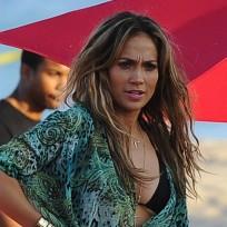 J. Lo on Set
