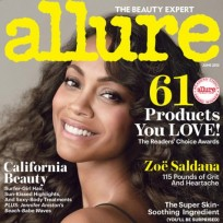 Printing Zoe Saldana's weight on the Allure cover is...